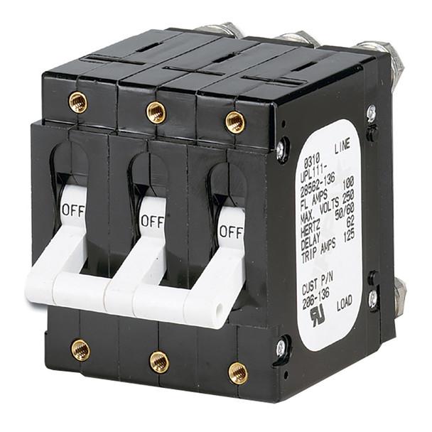 Paneltronics 'C' Frame Magnetic Circuit Breaker - 100 Amp - Triple Pole - White  [206-136]