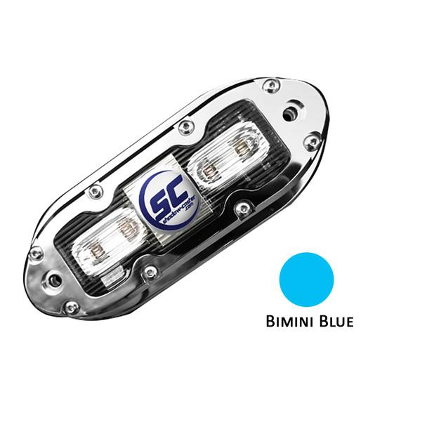 Shadow-Caster SCM-4 LED Underwater Light w\/20' Cable - 316 SS Housing - Bimini Blue  [SCM-4-BB-20]