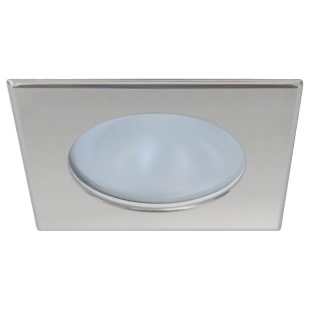 Quick Blake XP Downlight LED -  6W, IP66, Screw Mounted - Square Satin Bezel, Round Warm White Light  [FAMP3022S12CA00]