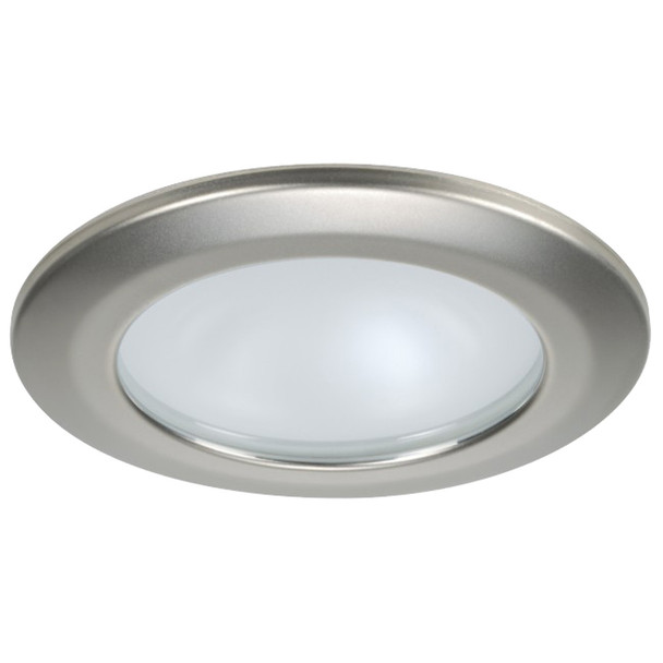 Quick Kor XP Downlight LED - 4W, IP66, Spring Mounted - Round Satin Bezel, Round Warm White Light  [FAMP 3252S02CA00]