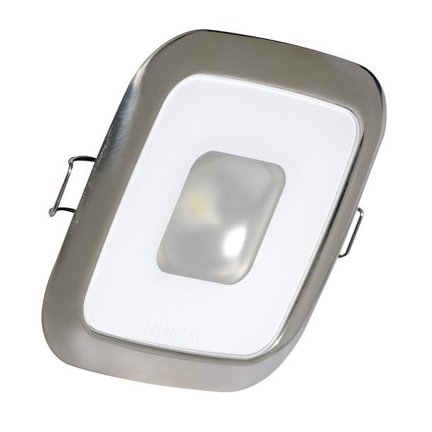 Lumitec Square Mirage Down Light - White Dimming - Polished Bezel [116113]