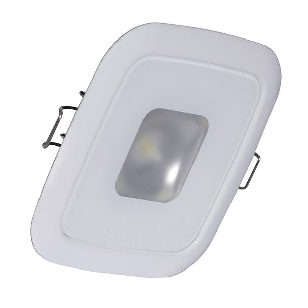Lumitec Square Mirage Down Light - Spectrum RGBW Dimming - White Bezel [116127]