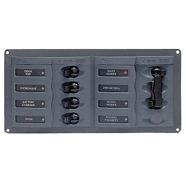 BEP AC Circuit Breaker Panel w\/o Meters, 4 Way Panel 2 Mains - 110V [900-AC1-110V]