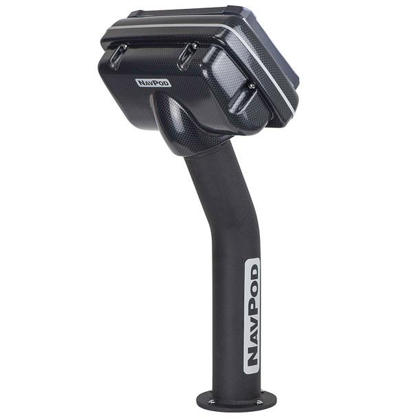 """NavPod PED4800 PedestalPod Uncut (Usable Face = 11.125""""W x 8""""H) (28.3cm W x 20.3cm H) - Carbon Black [PED4800-C]"""