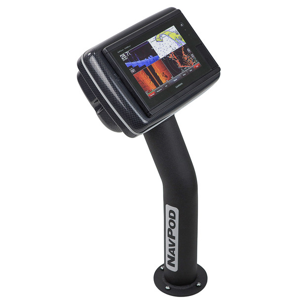 NavPod PED4800-20 PedestalPod Pre-Cut f\/Garmin GPSMAP® 7408, 7408xsv, 7608 & 7608xsv - Carbon Black [PED4800-20-C]