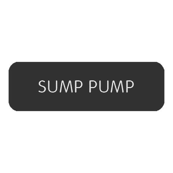 "Blue SeaLarge Format Label - ""Sump Pump"" [8063-0410]"