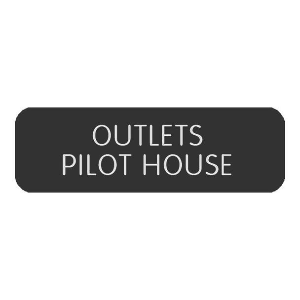 "Blue SeaLarge Format Label - ""Outlets Pilothouse"" [8063-0504]"