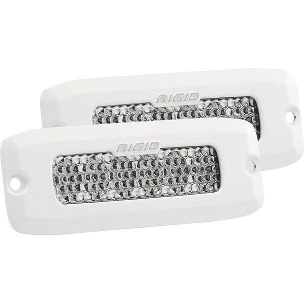 Rigid Industries SR-Q Series PRO Specter-Diffused LED - Flush Mount - Pair - White [975513]