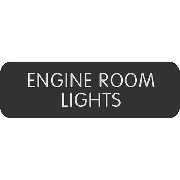 """Blue Sea Large Format Label - """"Engine Room Lights"""" [8063-0155]"""