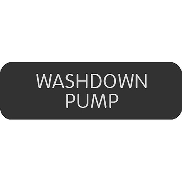 """Blue Sea Large Format Label - """"Washdown Pump"""" [8063-0513]"""