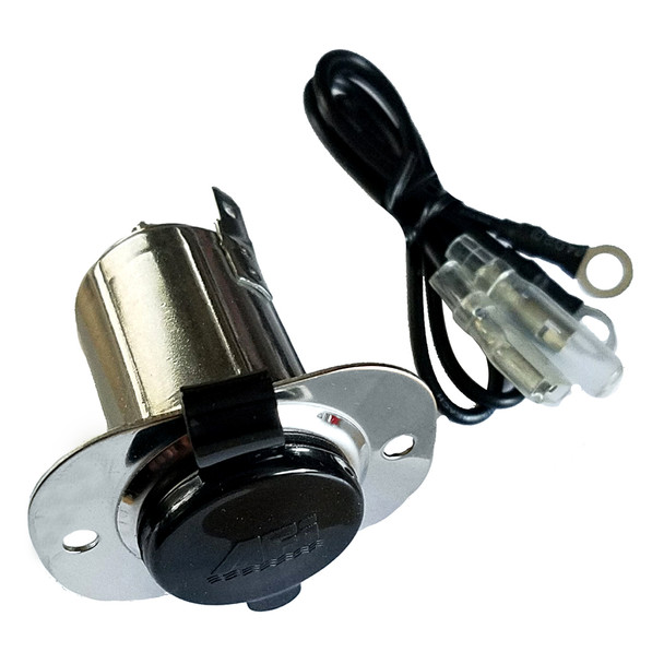 Marinco Stainless Steel 12V Receptacle w\/Cap [20036]
