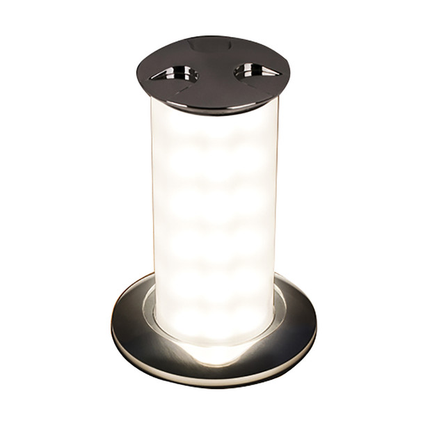 Quick Secret 6W Retractable Lamp w\/Automatic Switch IP66 Mirrored Chrome Finish - Warm White LED [FASP1572X12CD00]