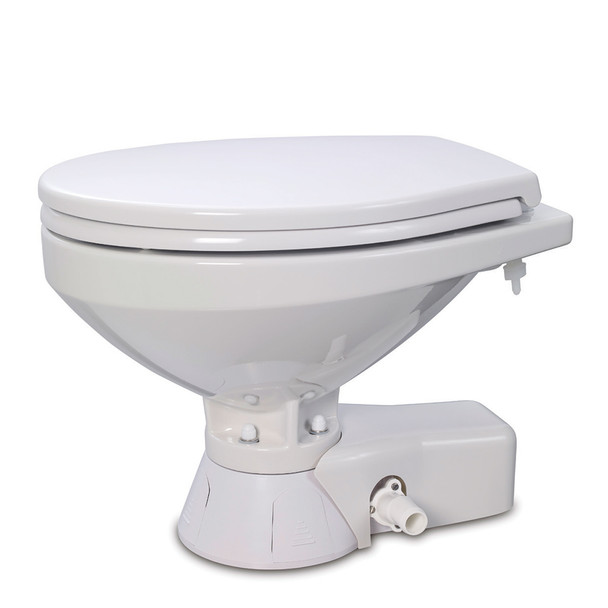 Jabsco Quiet Flush Raw Water Toilet - Regular Bowl - 12V [37245-4092]