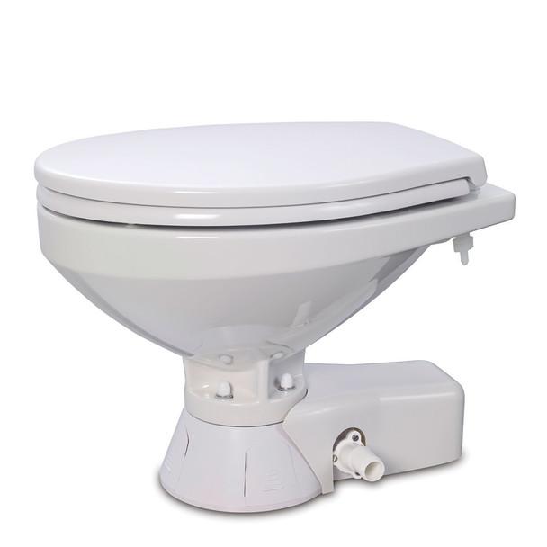 Jabsco Quiet Flush Freshwater Toilet - Regular Bowl w\/Soft Close Lid - 24V [37045-4194]