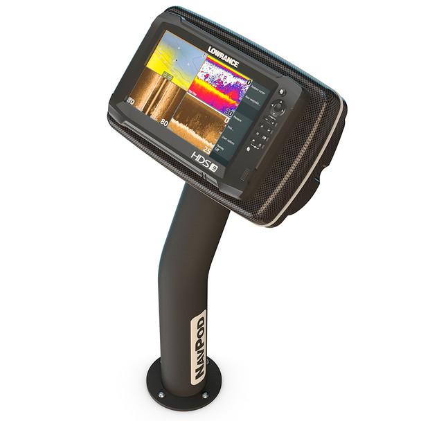 NavPod PedestalPod w\/RAM Mount Pre-Cut f\/Lowrance HDS-9 Gen2 Touch, HDS-9 Gen3  HDS-9 - Carbon Black [PED4600-08-C]