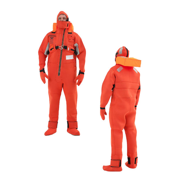 VIKING Immersion Rescue I Suit USCG\/SOLAS w\/Buoyancy Head Support - Neoprene Orange - Adult Small [PS20061050000]