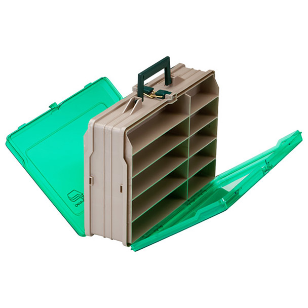 Plano Double-Sided 19-Compartment Satchel - Sandstone  Green [111906]