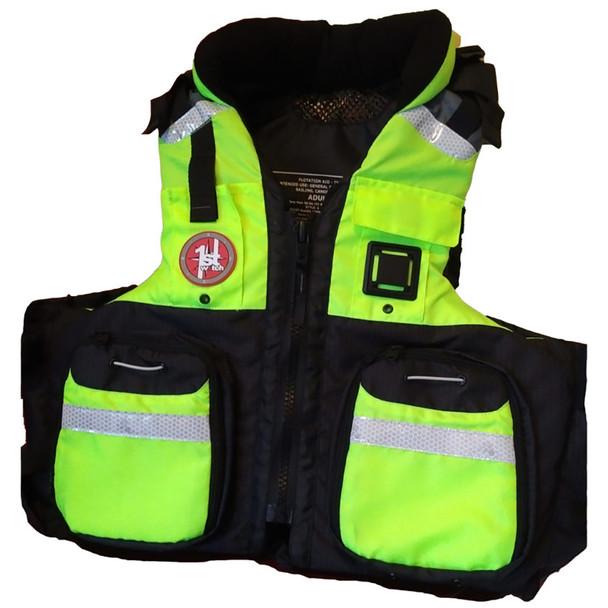 First Watch AV-800 Pro 4-Pocket Vest (USCG Type III) - Hi-Vis Yellow\/Black - L\/XL [AV-800-HV-L\/XL]