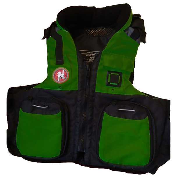 First Watch AV-800 Pro 4-Pocket Vest (USCG Type III) - Green\/Black - 2XL\/3XL [AV-800-GN-2XL\/3XL]