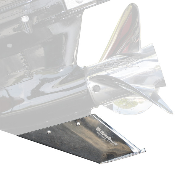 Megaware SkegGuard - Stainless Steel - Force, Honda, Mariner, Mercury, Yamaha, Nissan  Tohatsu [27071]