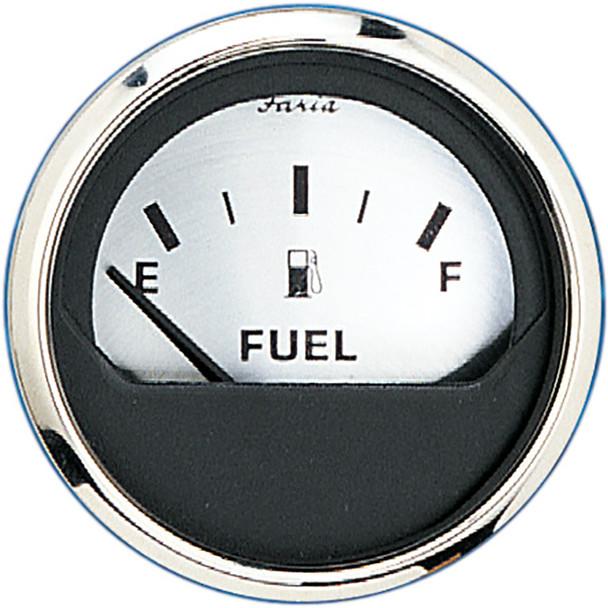 "Faria 2"" Fuel Level Gauge (E-1\/2-F) - Spun Silver [16001]"