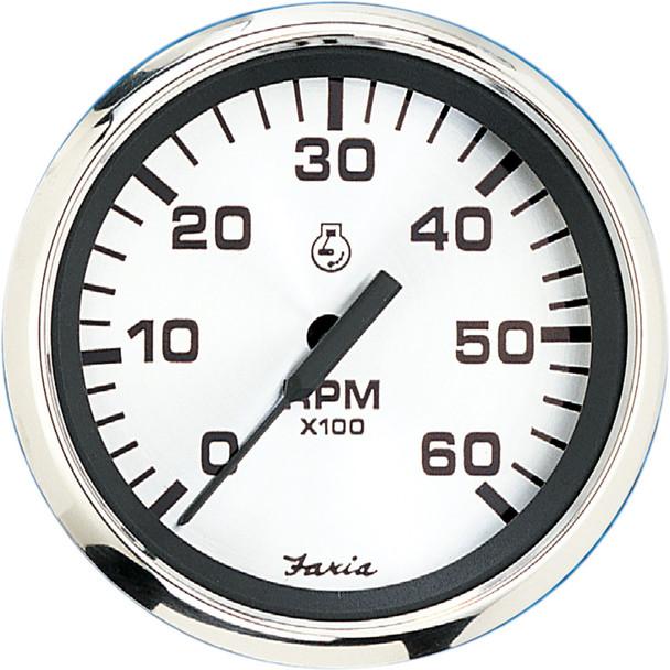 "Faria 4"" Tachometer (6000 RPM) Gas (Inboard  I\/O) - Spun Silver [36004]"