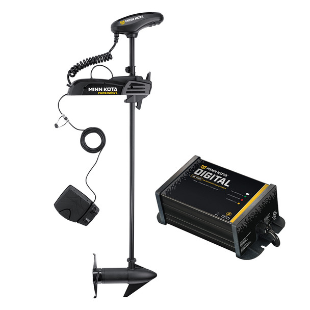 "Minn Kota Powerdrive 55_BT - 12v-55lb-54"" w\/ Free MK-106D On-Board Charger [1358739]"