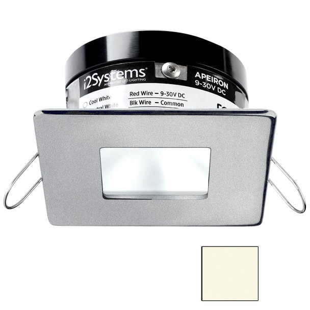 i2Systems Apeiron PRO A503 - 3W Spring Mount Light - Square\/Square - Neutral White - Brushed Nickel Finish [A503-44BBD]
