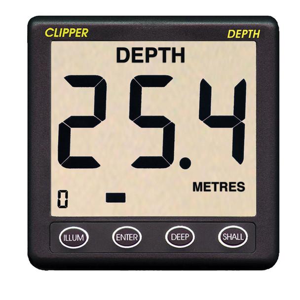 Clipper Depth Instrument w/Thru Hull Transducer & Cover  [CL-D]