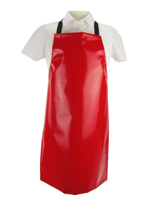 3 -4 Years PVC Crossover Aprons Red (8 x Units)