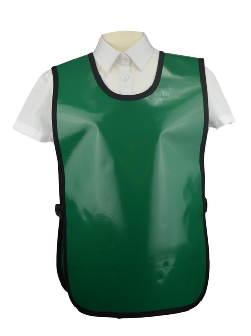 8-10 Years PVC Tabards in Green (30 x Units)
