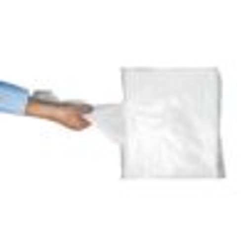 Disposable Flat Pack White Aprons in 16 mic  x 1000 Pack