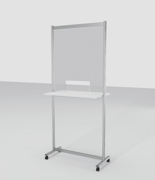 Perspex Screen with Shelf and Window