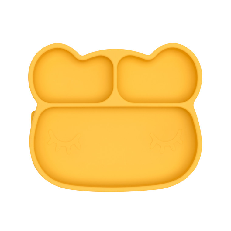 We Might Be Tiny Bear Stickie™ Plate - Yellow
