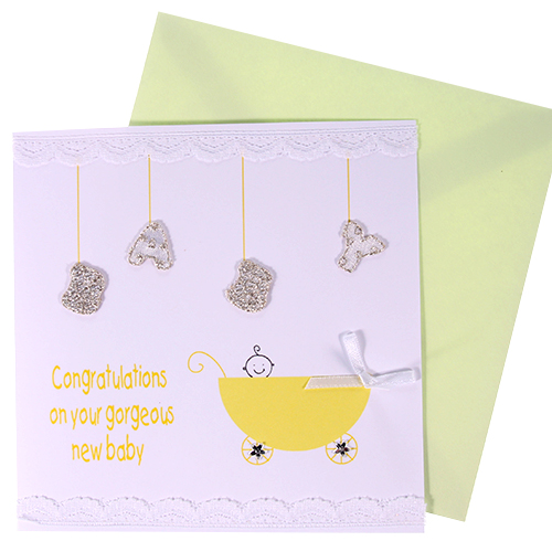 Congratulations On Your Gorgeous New Baby Card