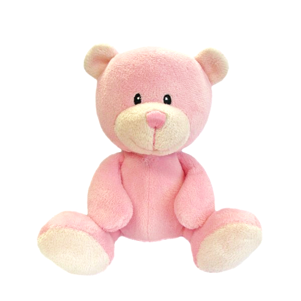 Pink baby bear newborn girl