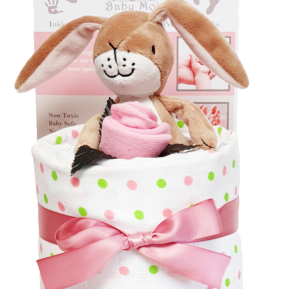 3 Tier Guess How Much I Love You Gift set Nappy Cake Girl