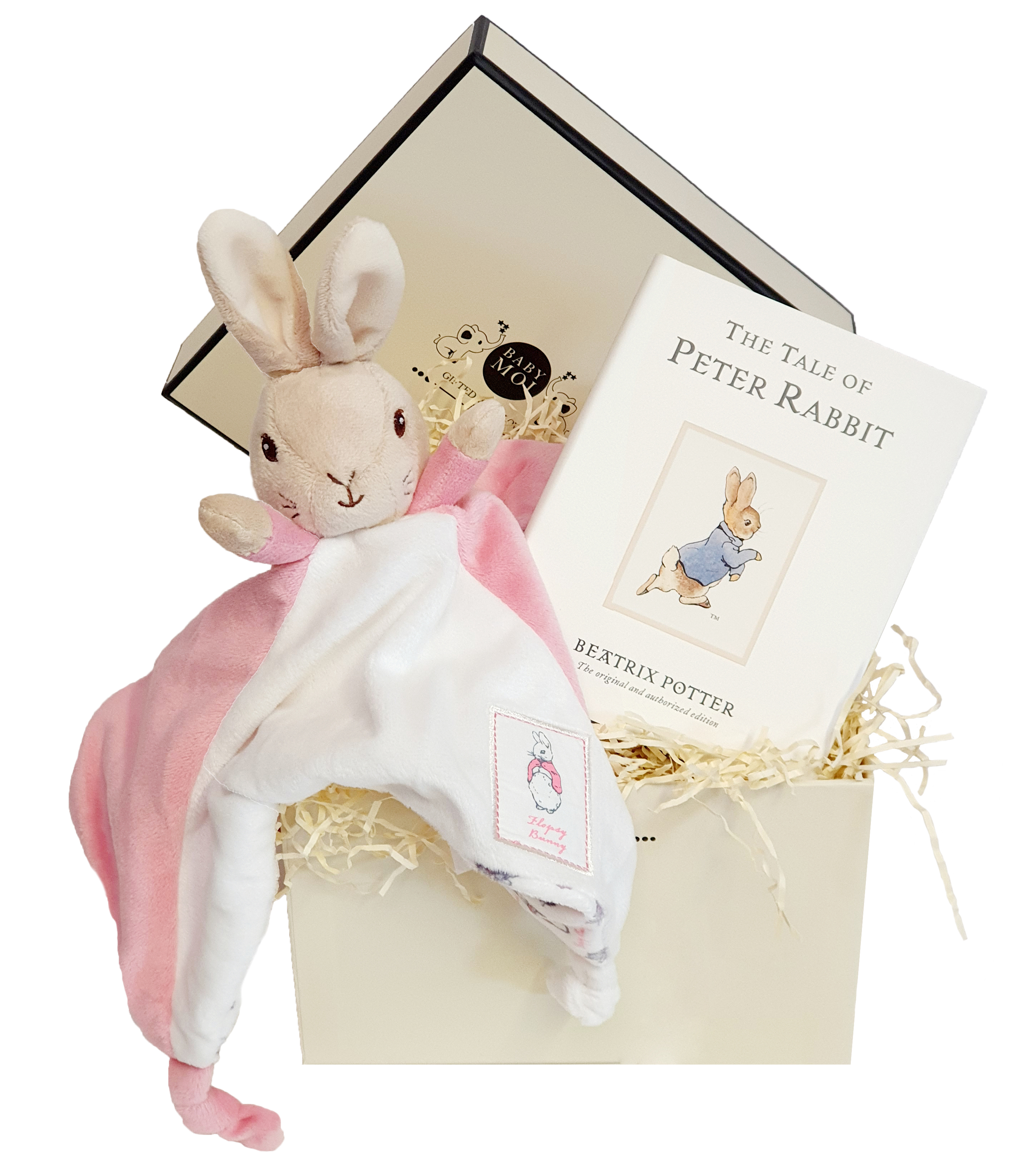 Baby Girl Gift Box Flopsy Comforter and Book