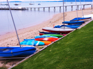 Colourful boats lined up and ready for the day ahead (Sorrento)