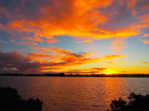 Winter Sunset on the Barwon River 2016 Taken from Ocean Grove foreshore camping grounds
