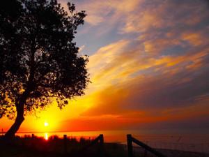 Coastal spring sunset (Rye)