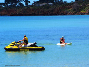 Jetski and catamaran riders enjoying their ride (MtMartha)
