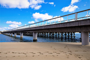 Footprints under the Barwon Heads bridges (Barwon Heads)