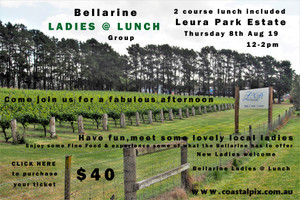 Bellarine Ladies @ Lunch -  @ Leura Park Estate, Thursday 8th August 2019