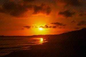 Winter Sunset reflections Ocean Grove Main beach