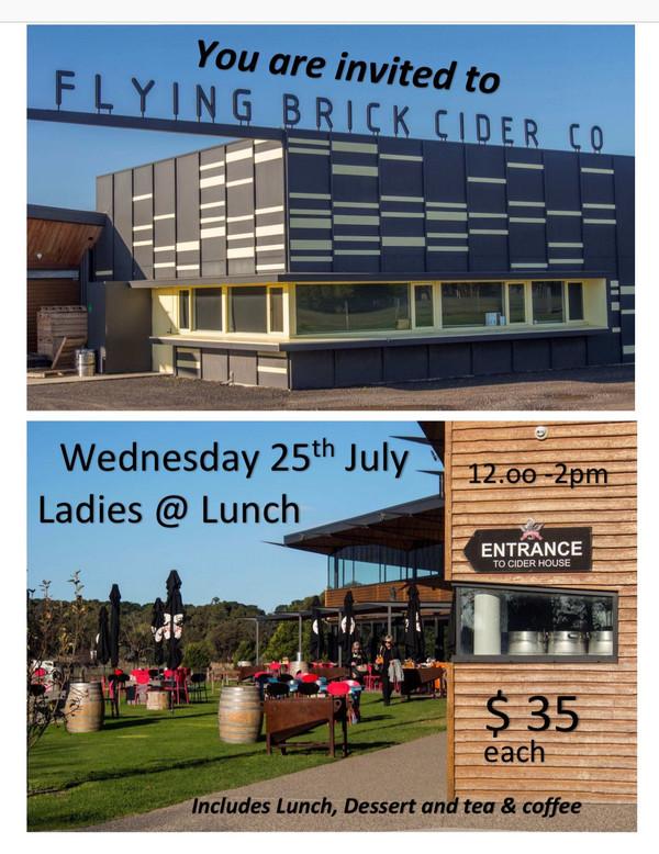 Ladies @ Lunch - No.2  Flying Brick Cider 269 Bellarine Highway Wallington  Vic   3222