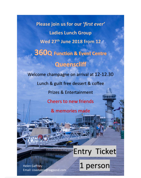 First Ever Ladies Lunch Group - Wednesday 27th June 2018 - Queenscliff (Sold Out)