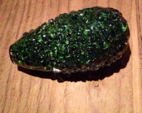 Heavy glass art with fun and realistic avocado texture!