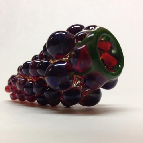 Rich Purple Grape cluster glass pipe