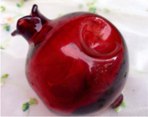 Pomegranate Glass Pipe Unique Fruit Art